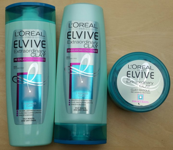 Review: L'oréal Elvive Extraordinary Clay Re-balancing Line