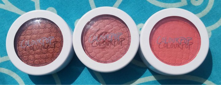 Review: Colour Pop Super Shock Cheek in Bardot, Holiday and Birthday Suit