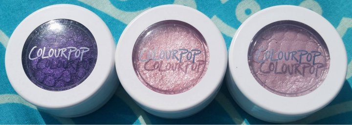 Review: Colour Pop Super Shock Shadow in Lace, Bubbly and Eye Candy