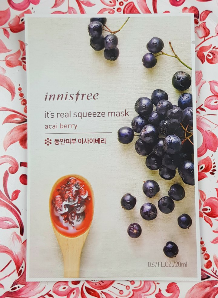 Mask Monday: Innisfree It's Real Squeeze Mask AcaiBerry