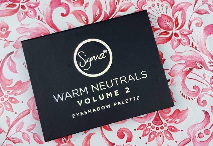 Review: Sigma Warm Neutrals Volume 2 EyeshadowPalette