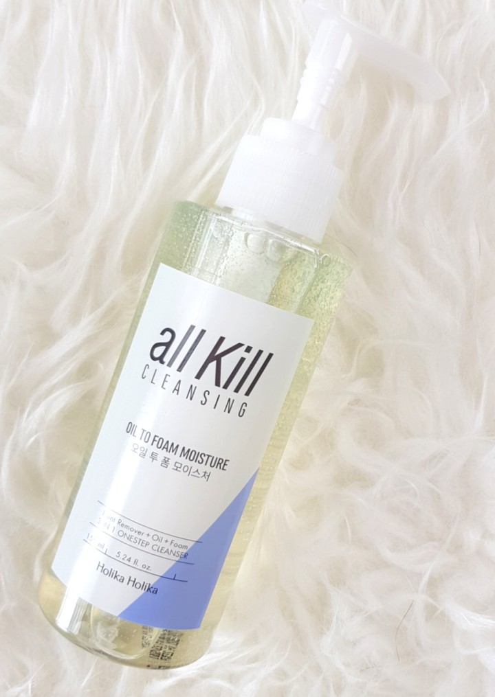 Review: Holika Holika All Kill Oil to Foam Moisture Cleansing Oil
